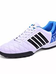 Masculino sapatos Borracha Primavera Outono Conforto Tênis Futebol Cadarço Para Branco Preto Azul Real