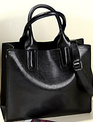 Women Bags Cowhide Tote Zipper for Casual All Season Black Blushing Pink Brown
