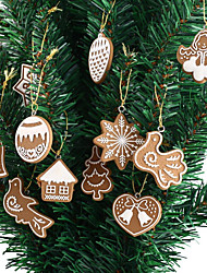 cheap -11-Piece Polymer Clay Fimo Christmas Tree Ornaments Snowflake Bell Xmas Party Decor