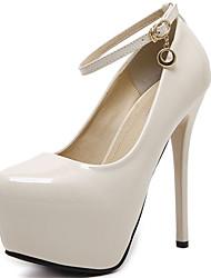 preiswerte -Damen Schuhe Lackleder Frühling Herbst Pumps High Heels Für Kleid Party & Festivität Schwarz Beige