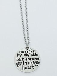 женские подвесные ожерелья круглые четыре сплава сплава дружбы ювелирные изделия для повседневных повседневных