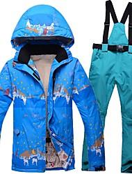 abordables -Femme Veste & Pantalons de Ski Chaud, Etanche, Pare-vent Ski Polyester / Rayon (T / R) Pantalon de bavoir de neige / Veste d'Hiver Tenue