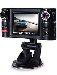 Carway F30 Car DVR 2.7 TFT LCD HD 1080P Rotated Dual Lens Dash Camera Vehicle Digital Video Recorder Camcorder Night Vision