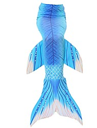 cheap -Mermaid Tail Skirt Kid Christmas Masquerade Festival / Holiday Halloween Costumes Blue Purple Red Color Block