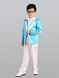 cheap -Blue Ring Bearer Suit Six piece Suit Includes Jacket Pants Vest Bow Tie Shirt