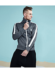abordables -Homme Sports Mao Actif Sweatshirt Rayé