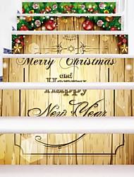 abordables -Noël A fleurs/Botanique Stickers muraux Caisson de Protection Autocollants avion Autocollants muraux 3D Autocollants muraux décoratifs