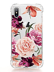 cheap -For iPhone X iPhone 8 Case Cover Transparent Pattern Back Cover Case Flower Soft TPU for Apple iPhone X iPhone 8 Plus iPhone 8 iPhone 7