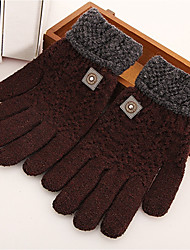 Men's Others Wrist Length Fingertips,Work Casual Solid Color Winter Gray Navy Blue Black Brown