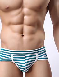 economico -Per uomo Boxer Medio spessore,Anelastico A righe,Cotone 1pc Verde Nero Viola Blu chiaro Royal Blue
