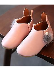 Para Meninas sapatos Couro Ecológico Inverno Outono Conforto Curta/Ankle Botas Botas Curtas / Ankle para Casual Bege Cinzento Rosa claro
