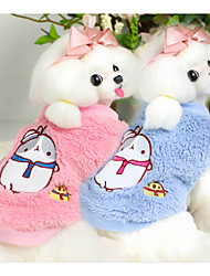 cheap -Dog Vest Dog Clothes Casual/Daily Cartoon Blue Pink Costume For Pets