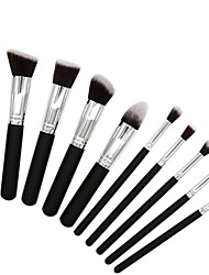 cheap -10 pcs Makeup Brush Set Blush Brush Eyeshadow Brush Lip Brush Powder Brush Foundation Brush Nylon Synthetic Hair Others Soft Full Coverage