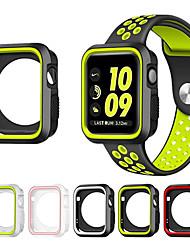 levne -pro jablko hodinky řady 1/2 38 / 42mm pružné pouzdro odolné proti poškrábání štíhlý lehký ochranný kryt nárazníku přidat páskové pásky