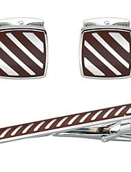 Çizgi Červená Kol Düğmeleri Spony na kravaty Měď Na běžné nošení Základní Denní Formální Pánské Kostýmní šperky