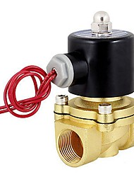 "cheap -12V DC 1/4"" Electric Solenoid Valve Water Air Diesel Normally Closed 24W Orifice 2.5mm"
