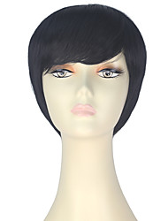 cheap -Synthetic Wig Straight Black Women's Capless Carnival Wig Halloween Wig Party Wig Lolita Wig Natural Wigs Cosplay Wig Short Synthetic Hair