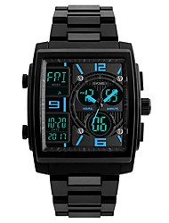 preiswerte -Herrn Kinder Sportuhr Modeuhr Armbanduhr Chinesisch Automatikaufzug Kalender Wasserdicht Armbanduhren für den Alltag Drei-Zeit-Zonen