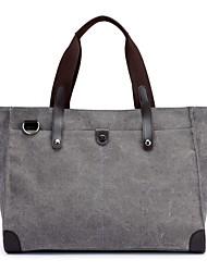 preiswerte -Damen Taschen Leinwand Umhängetasche Reißverschluss für Normal Ganzjährig Blau Schwarz Rote Grau Kaffee