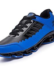baratos -Homens sapatos Micofibra Sintética PU Primavera Outono Solados com Luzes Tênis Corrida para Atlético Cinzento Preto/Vermelho Black / azul