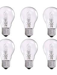 abordables -6pcs 42W E26/E27 A55 Blanc Chaud 2800 K Ampoules halogènes AC 100-240 V