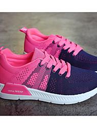 preiswerte -Damen Schuhe Tüll Frühling / Herbst Komfort Sneakers Flacher Absatz Schwarz / Grau / Blau