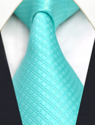 cheap -Men's Silk Necktie,Vintage Cute Party Work Casual Solid All Seasons Light Blue
