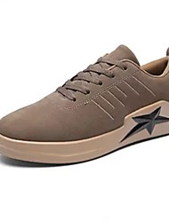 cheap -Men's Shoes Suede Spring / Fall Comfort Sneakers Black / Gray / Khaki