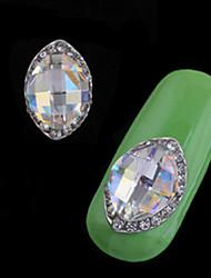 preiswerte -2pcs Luxus Set Auger Legierung Juwel Nagelkunst Dekoration