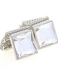 cheap -Geometric White / Golden Cufflinks Copper Fashion Men's Costume Jewelry For Wedding / Daily