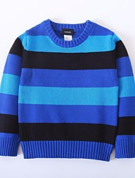 Girls' Striped Sweater & Cardigan,Wool Winter Long Sleeve Blue