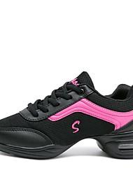 abordables -Femme Baskets de Danse Grille respirante Basket Talon Bas Personnalisables Chaussures de danse Blanc / Noir / Gris