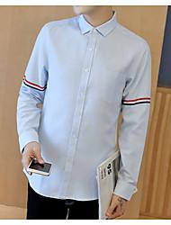 メンズ カジュアル/普段着 シャツ,Coily シャツカラー ソリッド その他 長袖