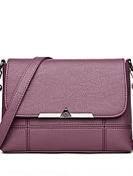 cheap -Women's Bags PU Crossbody Bag Zipper for Event/Party Casual Winter Fall Black Gray Purple Wine