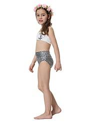 cheap -The Little Mermaid Swimwear Kid Halloween Festival / Holiday Halloween Costumes White Mermaid