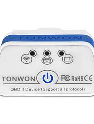 Недорогие -tonwon 2 ble4.0 elm327 obd2 диагностический сканер bluetooth4.0 проверить поддержку двигателя автомобиля все протоколы obdii использовать