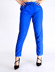cheap -Women's Slim Harem Pants - Solid High Rise