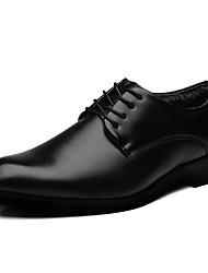 baratos -Homens sapatos Courino Inverno Outono Forro de fluff Conforto Oxfords para Escritório e Carreira Festas & Noite Preto