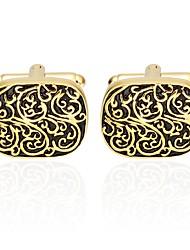 Květinový vzor Zlatá Kol Düğmeleri Měď Základní Módní Denní Formální Pánské Kostýmní šperky