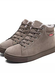 cheap -Men's Shoes Leather Winter Spring Summer Fall Comfort Sneakers Lace-up for Casual Black Gray Light Brown