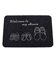 cheap -Modern Bath Mats Microfiber Word Solid Color Cuboid