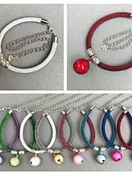 preiswerte -Katze Hund Halsbänder Reflektierend Klappbar Trompetenärmel Solide Kupferrot Weiß Rot