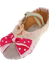 baratos -Sapatilhas de Balé Lona Sapatilha Adorno Sem Salto Personalizável Sapatos de Dança Bege
