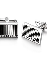 cheap -Geometric Silver Cufflinks Alloy Simple Fashion Gift Office & Career Men's Costume Jewelry