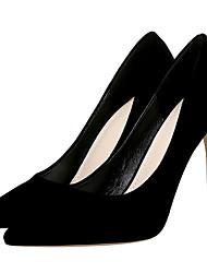 preiswerte -Damen Schuhe Stoff Frühling Herbst Pumps High Heels Null Stöckelabsatz Spitze Zehe Null / für Party & Festivität Kleid Schwarz Rot
