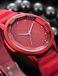 baratos -Mulheres Relógio de Pulso Chinês Relógio Casual / Legal Silicone Banda Luxo / Fashion Preta / Branco / Vermelho / Aço Inoxidável / Um ano / SSUO 377