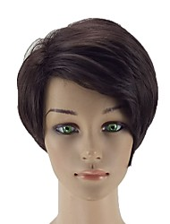 cheap -Synthetic Wig Straight Synthetic Hair Side Part Brown Wig Women's Short Capless