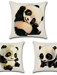 cheap -Set Of 3 Kawaii Panda Printing Pillow Cover 45*45Cm Pillow Case Personality Cushion Cover