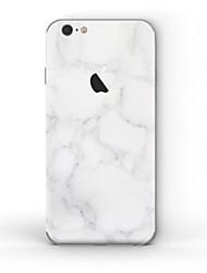 economico -1 pezzo Autoadesivo della Pelle per Anti-graffi Satinato A fantasia PVC iPhone 6s/6