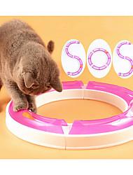Недорогие -кошка игрушка домашнее животное игрушки интерактивные игрушки мяч трек диск пластик для домашних животных